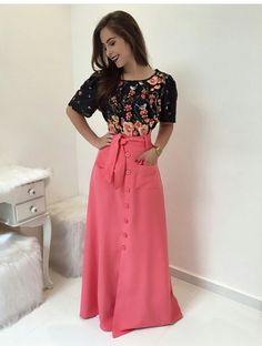 Pin by Mauren Aguirre on Women's Fashion that I love Trendy Dresses, Modest Dresses, Modest Outfits, Skirt Outfits, Modest Fashion, Cute Dresses, Dress Skirt, Fashion Dresses, Apostolic Fashion