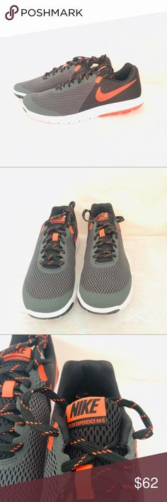 Details about Nike Flex Experience RN 4 gray orange size 15W mens grey running shoes