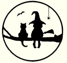 Witch and cat in tree for copper overlay on moon. Got the idea from a pumpkin carving stencil and changed it around a fair amount. Bat and spider painted on.