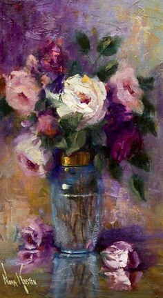 A Jar of Roses, by Artist Nora Kasten