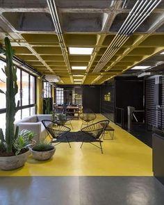 Industrial Workspace, Office Space Design, Industrial Interior Design, Workspace Design, Industrial Interiors, Industrial House, Office Interior Design, Luxury Interior, Interior Architecture