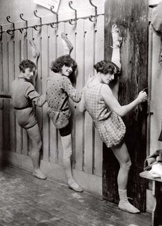 Training, exercises at the girl revue..