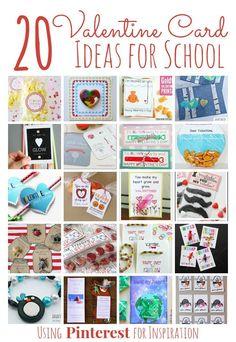20 Valentine's Day Card Ideas for School inspired by Pinterest #valentinesday #valentinesdaycards #handmade #eduspin #kids #kidsactivities