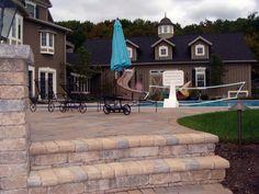 Beautiful Backyard! Landscape Design, Hardscape, Poolscape, Fencing. Backyard, Patio, Fencing, Design Projects, Landscape Design, Mansions, House Styles, Outdoor Decor, Beautiful