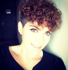 Shaved Haircut for Short Curly Hair - Stylish Girls Hairstyle