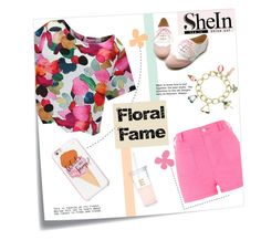 """""""Floral Fame"""" by linkfari ❤ liked on Polyvore featuring Post-It, River Island, Ollio, Kate Spade and contestentry"""