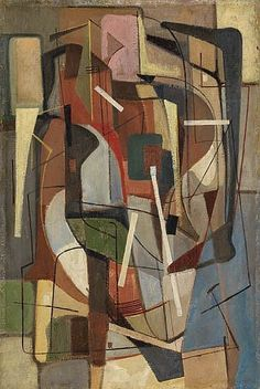 City Abstraction, Walter Augustus Simon, 1948