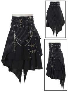 Bodyline Punk skirt with spider chain