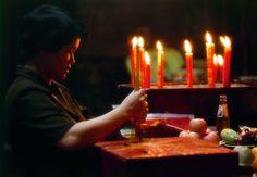 An offering inside the Jade Emperor Pagoda, Ho Chi Minh City (Saigon), Vietnam.
