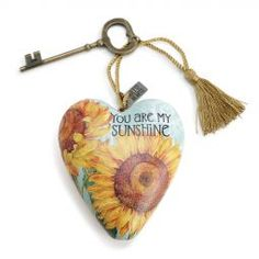 Art Hearts You are my Sunshine found at the ChristmasOrnamentStore.com year round...