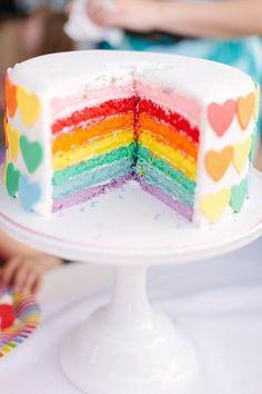 Rainbow Reveal | A Sweet Rainbow-Heart Birthday Party | POPSUGAR Moms