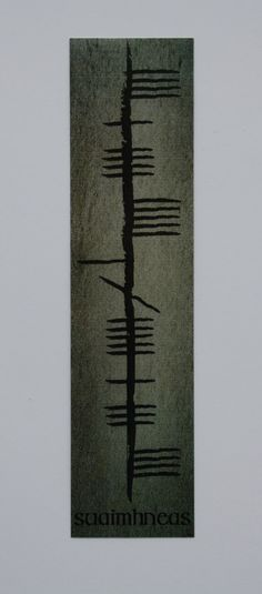 Laminated bookmark with message in Irish and ogham!
