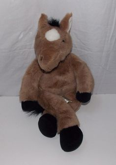 Build a Bear Workshop Brown Horse Pony Plush Stuffed Animal Collectible Toy #BuildABearWorkshop #any