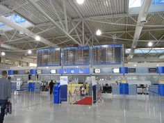 Athens Airport - Just as I remembered. Lovely people, but not that well organized. Seems more chaotic than most.