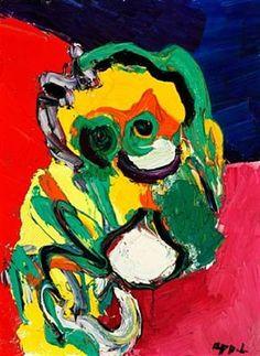 Colorful mask - Karel Appel
