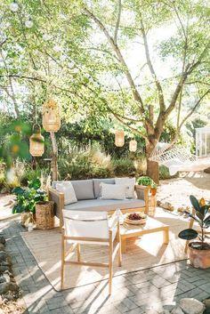 Small Backyard Design, Backyard Patio Designs, Small Backyard Landscaping, Backyard Ideas, Oasis Backyard, Cozy Backyard, Diy Patio, Patio Ideas Blog, Back Yard Oasis