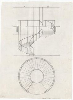Arne Jacobsen, stairway of SAS Royal Hotel, 1955-59. Denmark....