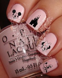 Disney Nail Art Mickey Minnie Castle Nail Art Nail Water Decals