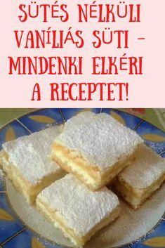 Mindenki elkéri a receptet! #sütemény #vaníliás Cornbread, Delicious Desserts, Food And Drink, Cheese, Fit, Ethnic Recipes, Millet Bread, Corn Bread