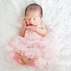 e91a03a9c76 Baby Light Pink Rosette Blossom Tutu Dress Baby Tutu Jurkjes