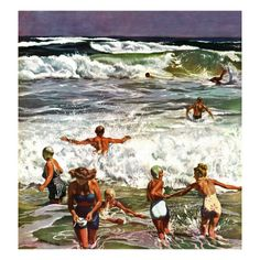 """Surf Swimming,"" by John Falter"