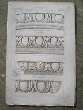 OVE ORNEMENT MATERIAUX D'ARCHITECTURE A. RAGUENET XIXè