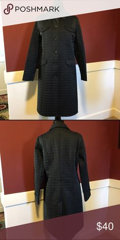 Express Quilted Coat Black Calf Length Quilted Coat. Missing the belt, but otherwise in Excellent Used Condition.  Size 14 Express Jackets & Coats