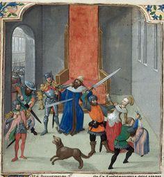 Des cas des ruynes des nobles hommes et femmes. (Bruges) Date c. 1479-c.1480. Death of Maurice