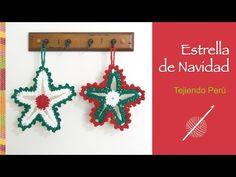 ¿Estrellita dónde estás?... estrella de Navidad tejida a crochet! - YouTube