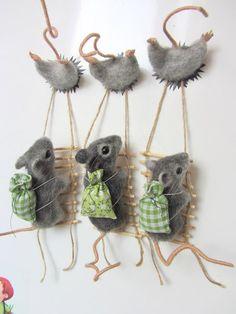 Knitting sheep or goatStrike a pose,darlineThe joy of making felt crafts. Clay Crafts, Felt Crafts, Diy And Crafts, Arts And Crafts, Needle Felted Animals, Felt Animals, Needle Felting Tutorials, Hamster, Felt Mouse