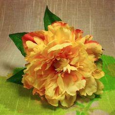 Yellow Zinnia Hair Flower