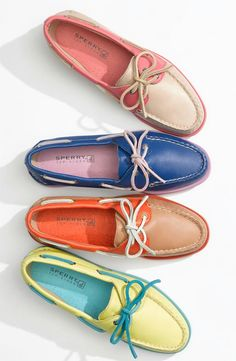 summer sperrys.