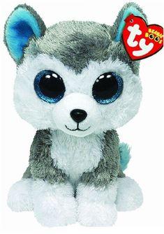 ccac4afc048 Ty Slush the Grey Gray   White Husky Dog Beanie Boos Stuffed Plush Toy