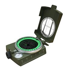 Compass,Banne Metal Waterproof Compass,Camping Compass Fluorescent Pointer Compass(Army Green). For product info go to:  https://all4hiking.com/products/compassbanne-metal-waterproof-compasscamping-compass-fluorescent-pointer-compassarmy-green/