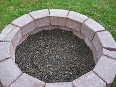 Stone Soup for Five: DIY simple brick firepit, in about an hour!uu