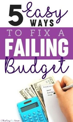 5 ways to fix a failing budget and get on track for financial independece #budgeting #budget #budgettips #budgettipssavingmoney #budgettipsforbeginners #budgettipsfrugalliving #budgetideas #budgetideasdebtfree #budgetideassavingmoney #budgetideasmonthly #budgetingtips #budgetingforbeginners #budgetsolutions #budgetproblems #overspending #overspendinghelp