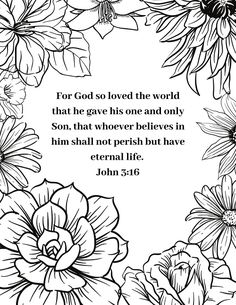 Bible Verse Coloring Pages Free Printable. Also find Easter Coloring Pages as well. Easter Coloring Pages Printable, Easter Printables, Adult Coloring Pages, Coloring Books, Printable Bible Verses, Scripture Cards, Free Printable, Easter Scriptures, Bible Verse Coloring Page