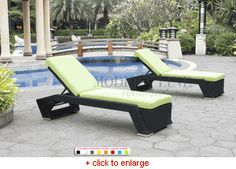 Modern Line Furniture  Set of two loungers  $2000
