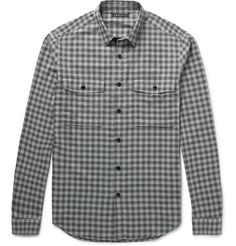 THEORY Bariet Slim-Fit Checked Cotton Shirt. #theory #cloth #casual shirts