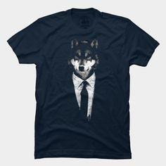 Mr Wolf T Shirt By Ikaruz Design By Humans