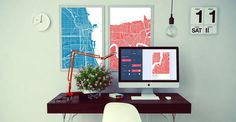 The new company GrafoMap gives any location in the world—yes, any—the artsy treatment.