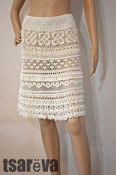 Crochet Skirts, Crochet Clothes, Cotton Crochet, Crochet Lace, Vanessa Montoro, Vintage Style Dresses, Couture, Lace Tops, White Women