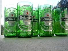 Modelos criativos de copos exclusivos feito de garrafas de vidro recicladas - As Novidades