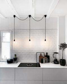 Romantic Home Decor Discover More Baffling Black Scandinavian Lighting Ideas 15 Magnificent Black Scandinavian Lighting Ideas Minimal design might have come and gone, however theres one iteration from. Interior S, Interior Lighting, Kitchen Interior, Kitchen Decor, Interior Decorating, Interior Design, Lighting Ideas, Kitchen Ideas, Pole Barn House Plans