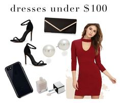 """Dress under $100"" by esthercerra on Polyvore featuring Boohoo, ALDO, LULUS, Belkin and AK Anne Klein"