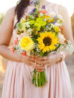 Country wedding  Wildflower bouquet. @Maddie Findley-Reddy