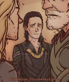 Ooooooh......Poor Loki was always excluded from the men in the family. But he was the the real man and the most worthy of the two. Seriously!