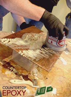 Easily Refinish Countertops with Epoxy - Kitchen cabinets - Endless ways to create effects with Countertop Epoxy… - Refinish Countertops, Epoxy Countertop, Kitchen Countertops, Stained Concrete Countertops, Backsplash, Kitchen Cabinets, Best Flooring, Diy Flooring, Diy Kitchen