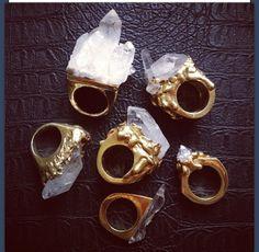 ☆ ☼ ☾ Boho Jewelry. quartz rings. ☽☼ ☆
