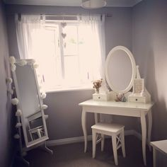 Dressing room #greyroom #dressingroom #dressingtable #grey #hemnes #ikea #hemnesdressingtable #greyandwhite #shabbychic